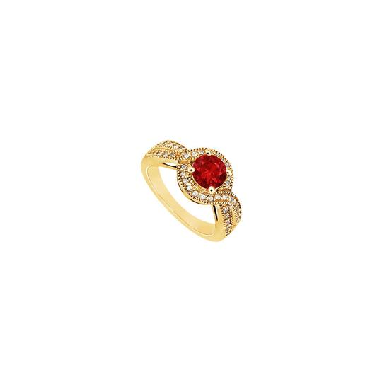 Preload https://img-static.tradesy.com/item/24328362/red-created-ruby-and-cubic-zirconia-engagement-14k-yellow-gold-100-c-ring-0-0-540-540.jpg