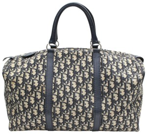 Dior Boston Keepall Duffle Monogram Trotter Blue Travel Bag