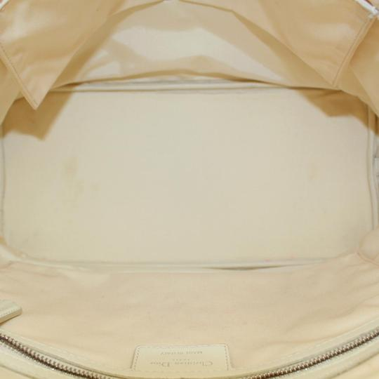Dior Cannage Gst Ladior Saddle Tote in White