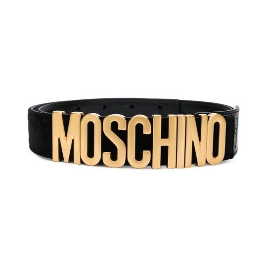 Preload https://img-static.tradesy.com/item/24328533/moschino-logo-velvet-leather-size-85-belt-0-1-540-540.jpg