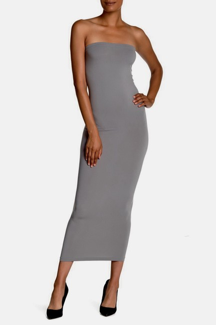 Midgrey Maxi Dress by Wolford Fatal Convertible Pencil Pencil Skirt
