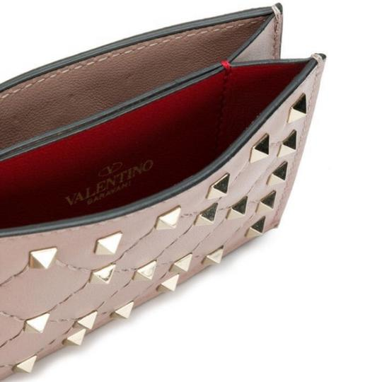 Valentino Rockstud spike quilted leather card holder