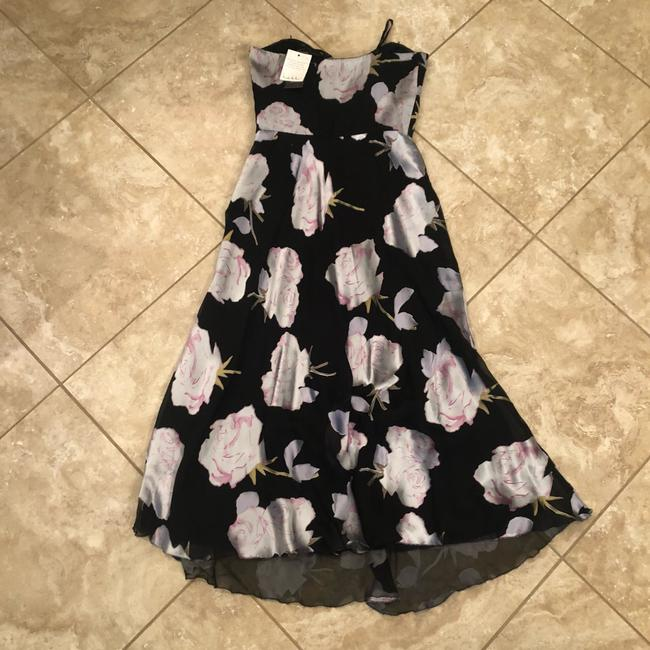 Nicole Miller Black/Gray and White Silk/Rayon Mid-length Formal Dress Size 4 (S) Nicole Miller Black/Gray and White Silk/Rayon Mid-length Formal Dress Size 4 (S) Image 5