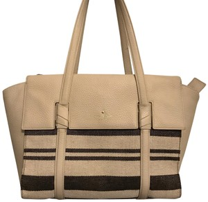 Kate Spade Tote in Striped Taupe