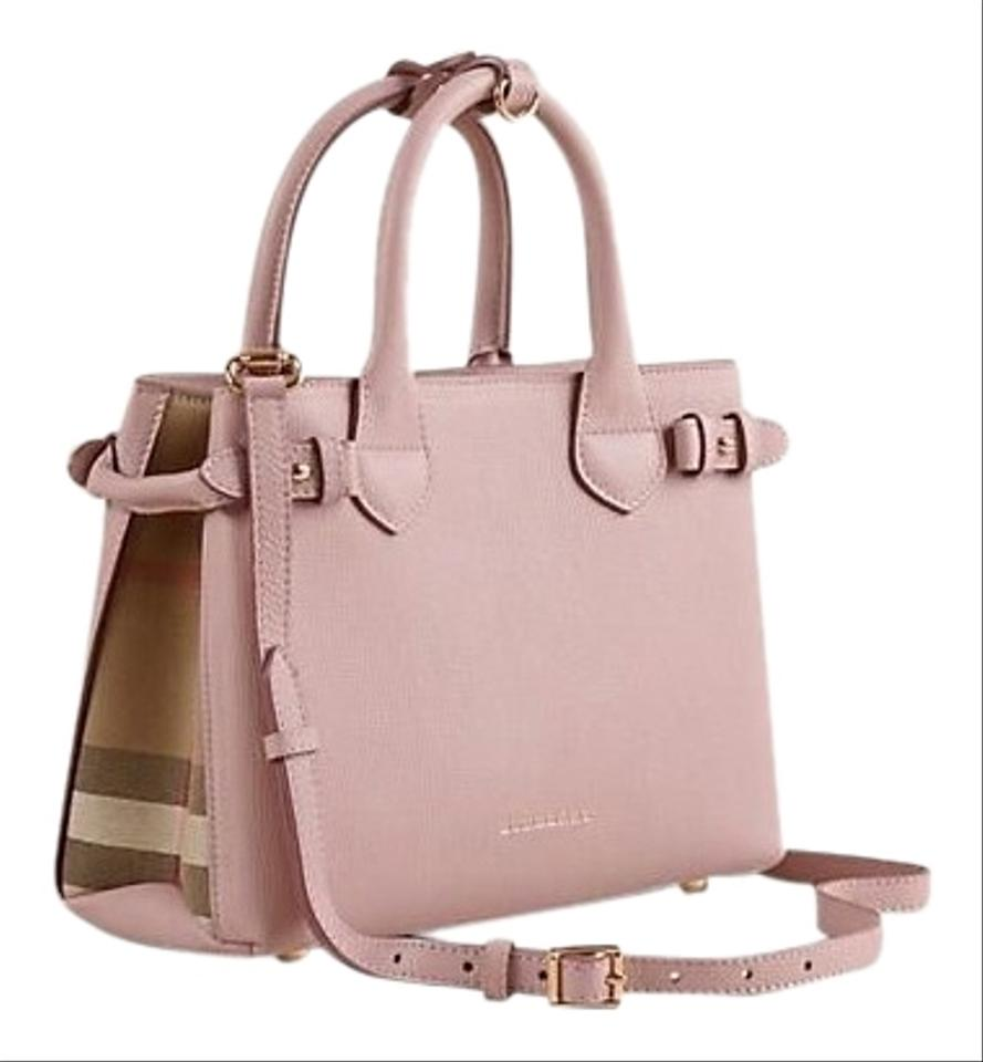 d884f04d7214 Burberry Small Banner Pale Orchid Leather Tote - Tradesy