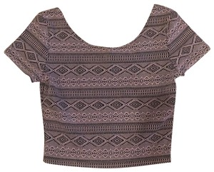Divided by H&M Top Purple and Black