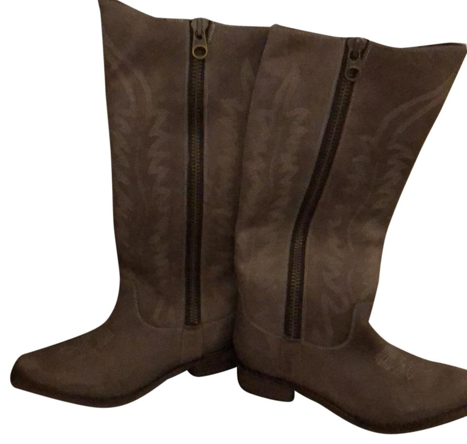 577b2adb52e Steve Madden Taupe Suede Cowboy Boots/Booties Size US 7 Regular (M, B)