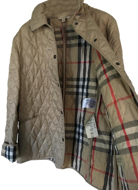 Item - Trench Beige Excellent Quilted Womens Large. Jacket Size 12 (L)