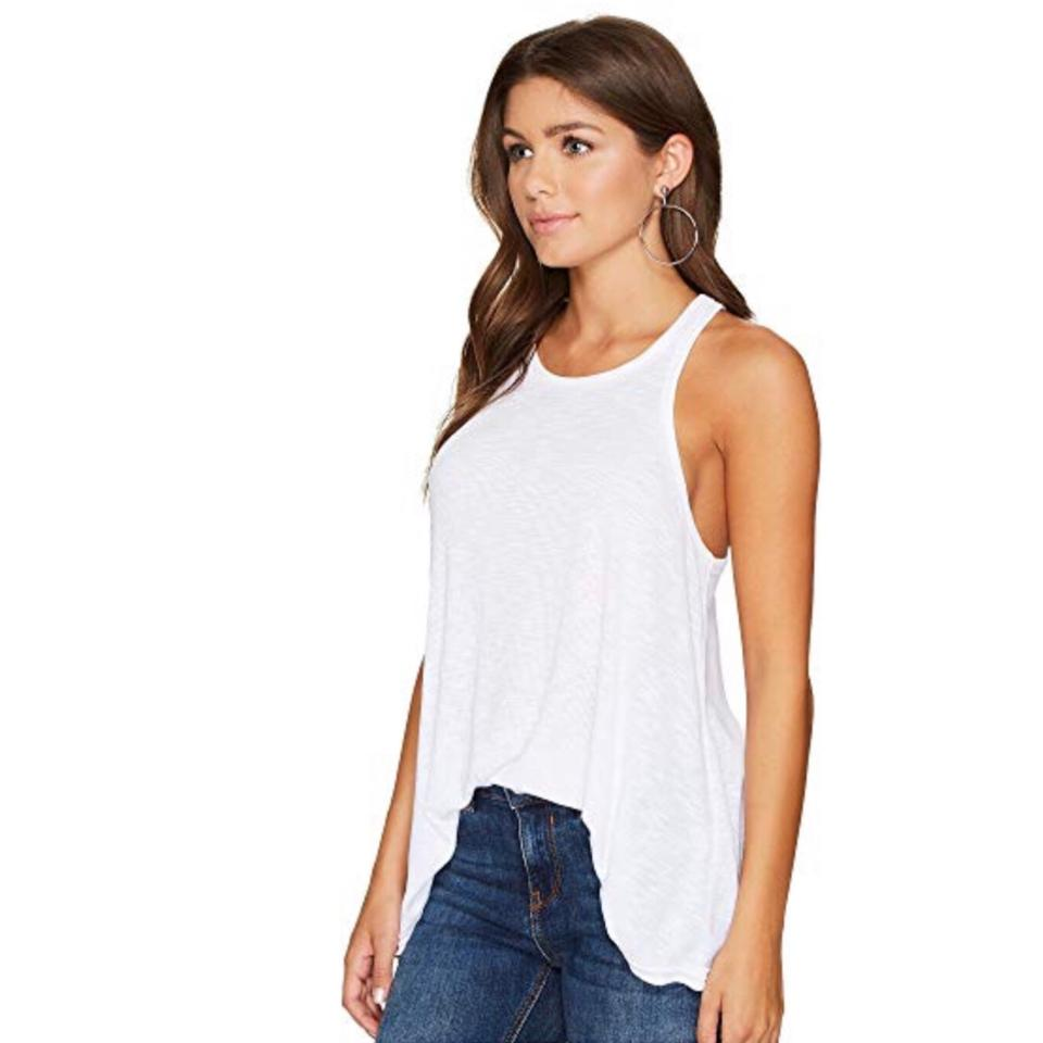 9b52cf242ed11 Free People White Ribbed Tank Top Cami Size 6 (S) - Tradesy