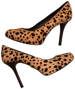 Tory Burch Leopard and Yellow/Brown Pumps