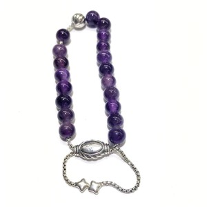 "David Yurman GORGEOUS!!! David Yurman Silver Accent Bead and Amethyst Spiritual Beads Bracelet 8mm Silver Accent Bead 8mm Amethyst Beads 5.8""-9.8"" adjustable 100% Authentic Guaranteed!! Comes with Original David Yurman Pouch!!!"