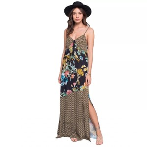 Black, Yellow Maxi Dress by Band of Gypsies