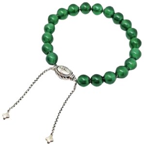 "David Yurman BEAUTIFUL!! David Yurman Green Onyx spiritual beads bracelet  8mm 100% Authentic Guaranteed!! 5.8""-9.8"" adjustable Comes with Original David Yurman Pouch!!"