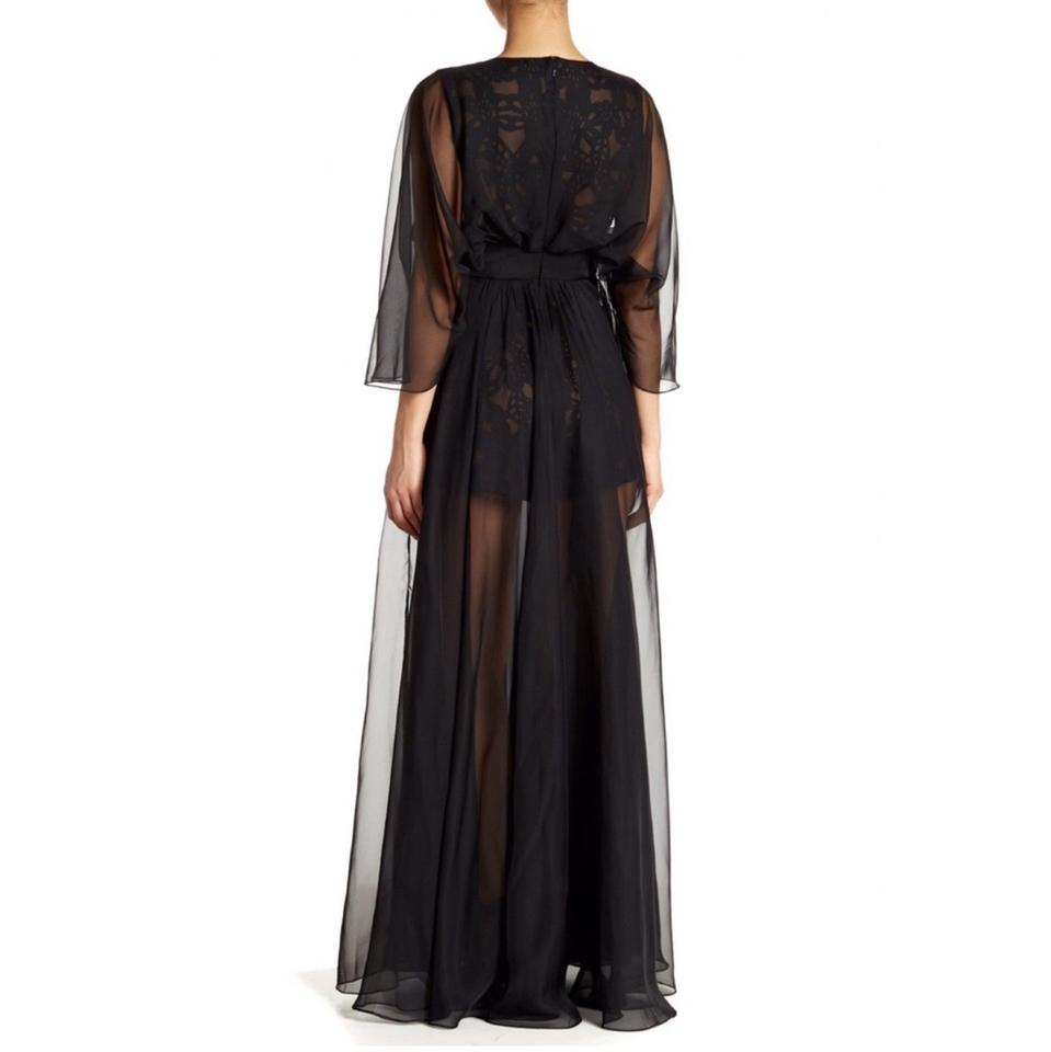 dfd54dcbfc15 Black Prom Lace Sheer Overlay Romper Jumpsuit - Tradesy