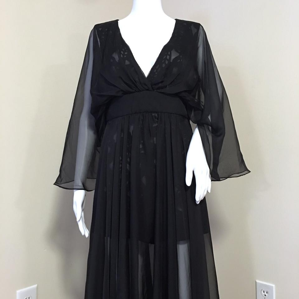 88d9c38a856e Black Prom Lace Sheer Overlay Romper Jumpsuit - Tradesy