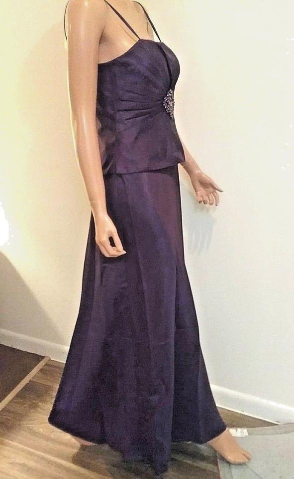 Jessica Howard Aubergine Bolero Jacket Evening Gown Long Formal