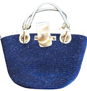 Felix Rey Tote in Navy with gold