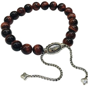 "David Yurman BEAUTIFUL!! David Yurman Red Tiger's Eye spiritual beads bracelet  8mm 100% Authentic Guaranteed!! 5.8""-9.8"" adjustable Comes with Original David Yurman Pouch!!"