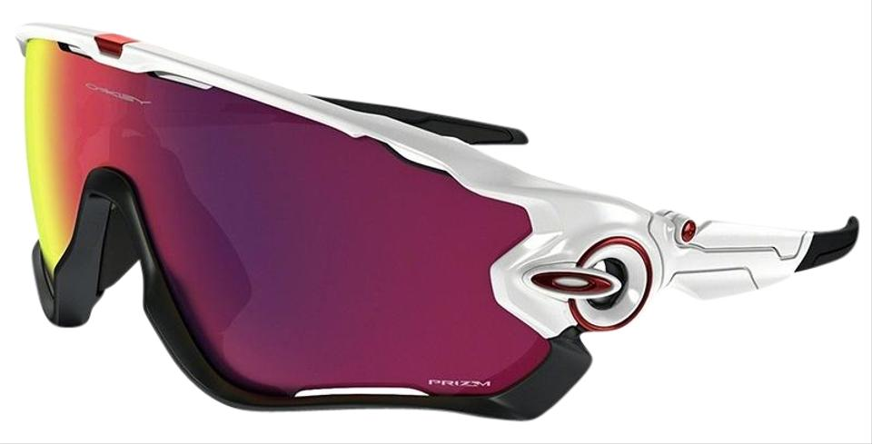 84583f83b39 Oakley Jawbreaker Polished White Frame Prizm Road Lens Unisex Sports ...