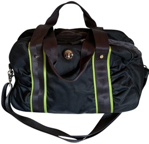 Lululemon Canvas Grey and lime green Travel Bag