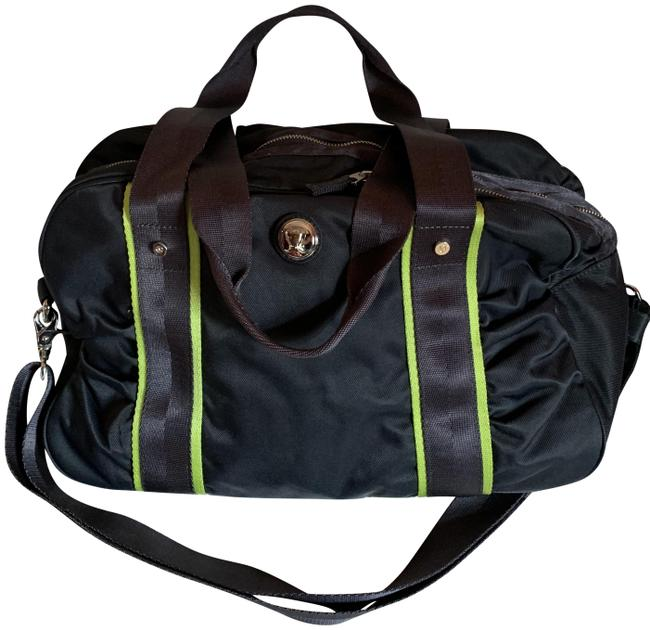 Item - Gym Grey and Lime Green Canvas Weekend/Travel Bag