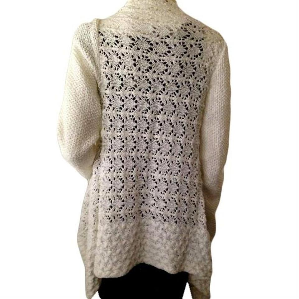53b1b024f08dbc Ann Taylor LOFT Long Sleeve Open Front Cable Knit Cardigan Size M ...