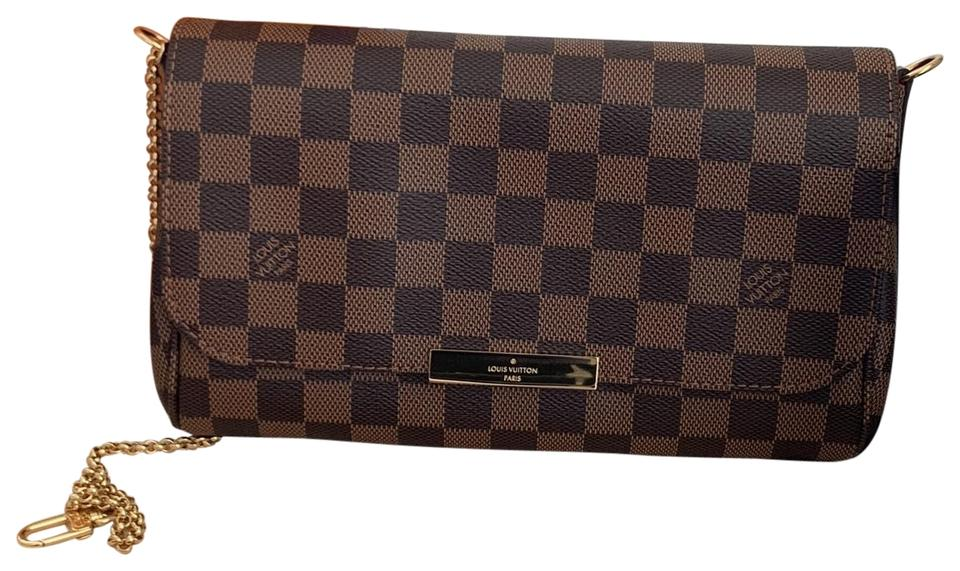 d243fa20f2625 Louis Vuitton Favorite Mm Damier Ebene Leather Cross Body Bag - Tradesy