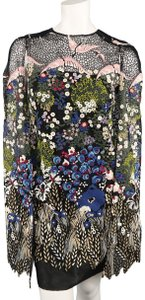 Valentino Embroidery Cape Capelet Lace Floral Dress