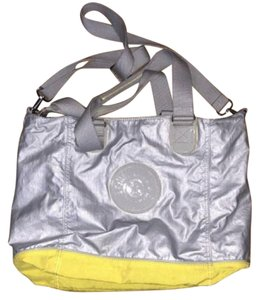 Kipling Nylon Removable Strap Adjustable Strap Lined Gray Yellow Travel Bag