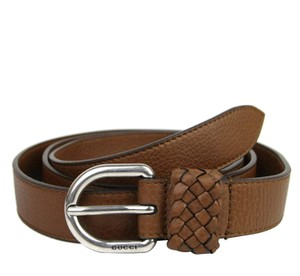 Gucci Gucci Men's Dark Brown Leather Orval Buckle Wrap Belt