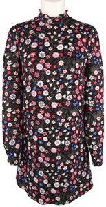 Valentino Floral Shirt Tunic Long Sleeve Print Dress