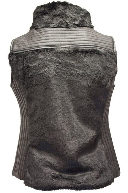 Ci Sono by Cavalini Faux Fur Faux Leather Vest Image 1