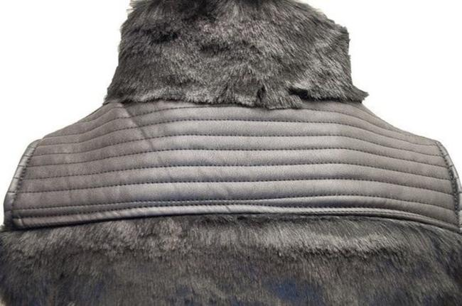 Ci Sono by Cavalini Faux Fur Faux Leather Vest Image 2