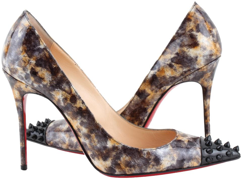 half off 308a6 36f34 Christian Louboutin Multicolor Marble Print Geo 100 Spiked Pumps Size US 8  Regular (M, B) 18% off retail