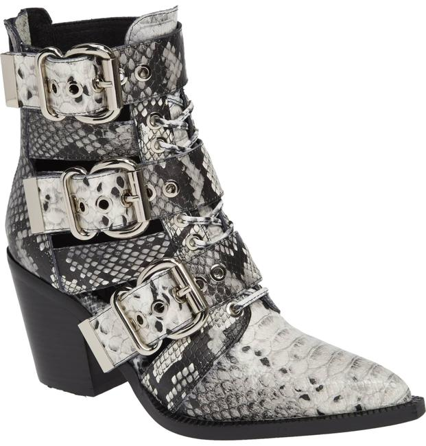 Item - Black White Snake Western Ceceres Boots/Booties Size US 7.5 Regular (M, B)