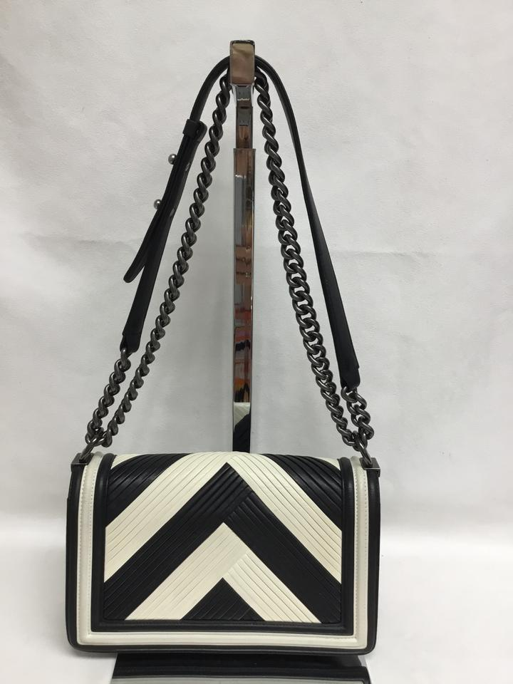 229e7d72cffc Chanel Boy Limited Edition Medium Paris In Rome Black and White ...