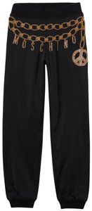 MOSCHINO [tv] H&M Athletic Pants Black and Gold