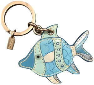 Coach Turquoise Tropical Fish Key Ring or Bag Charm