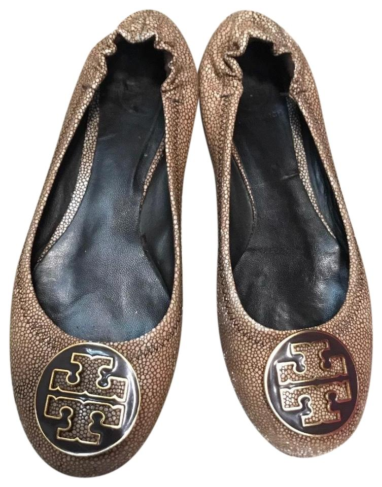 956f2978693 Tory Burch Brown Reva Flats Size US 7 Regular (M