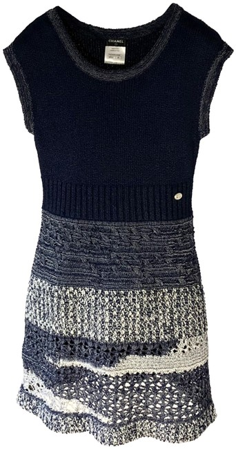 Preload https://img-static.tradesy.com/item/24330897/chanel-navy-bluewhite-crochet-knit-12p-a-line-mid-length-short-casual-dress-size-4-s-0-1-650-650.jpg