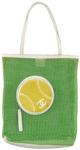 Chanel Tennis Mesh Suede Sports Kitsch Tote in Green