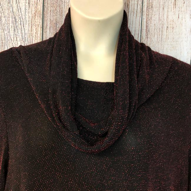 UNBRANDED Knit Plus-size Top BLACK/RED Image 1