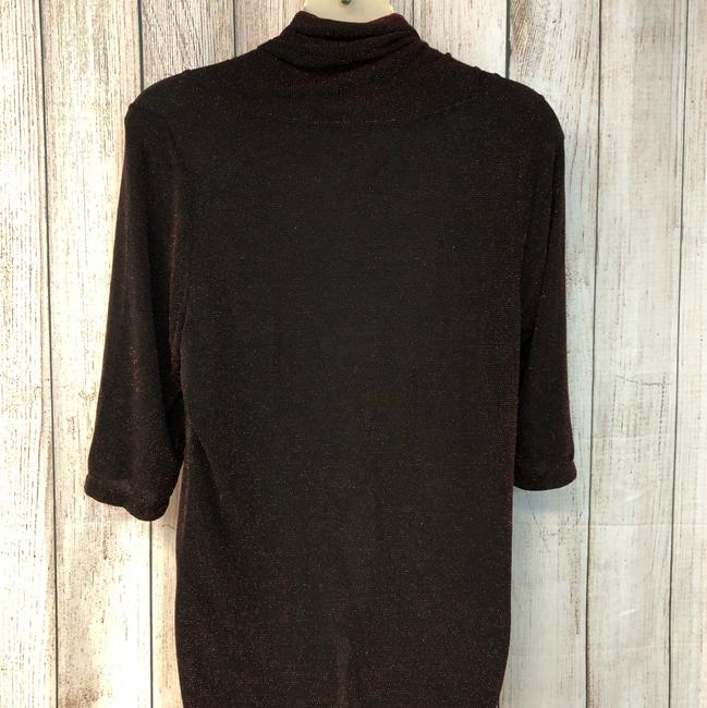 UNBRANDED Knit Plus-size Top BLACK/RED Image 5