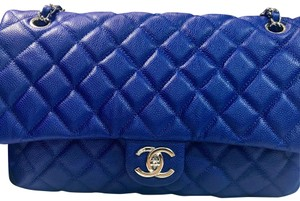 3cbb688cff88 Chanel Easy Flap Caviar Shoulder Bag · Chanel. Easy Caviar Jumbo Shw Cobalt  Blue ...