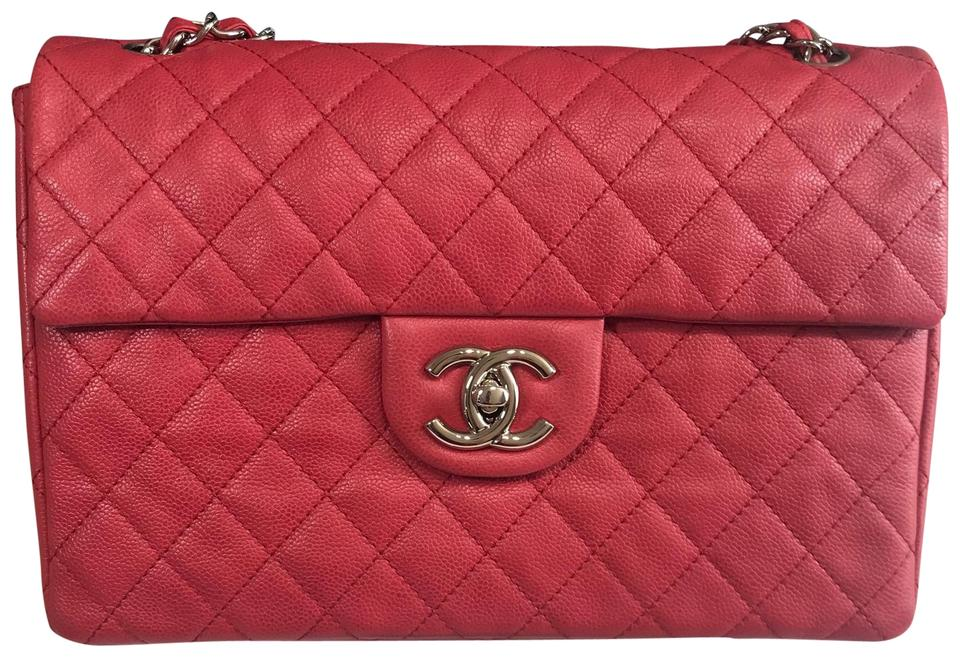 a445bb1b63f082 Chanel Classic Flap XL Maxi Pink/Red Caviar Single Shw Pink/Red ...