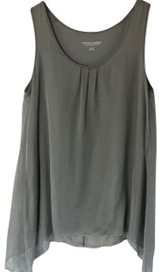 Soft Surroundings Silk Shell Layering Top Gray