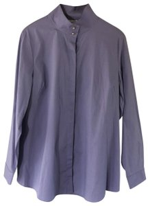 Soft Surroundings Career Shirt Wear To Work Top Purple