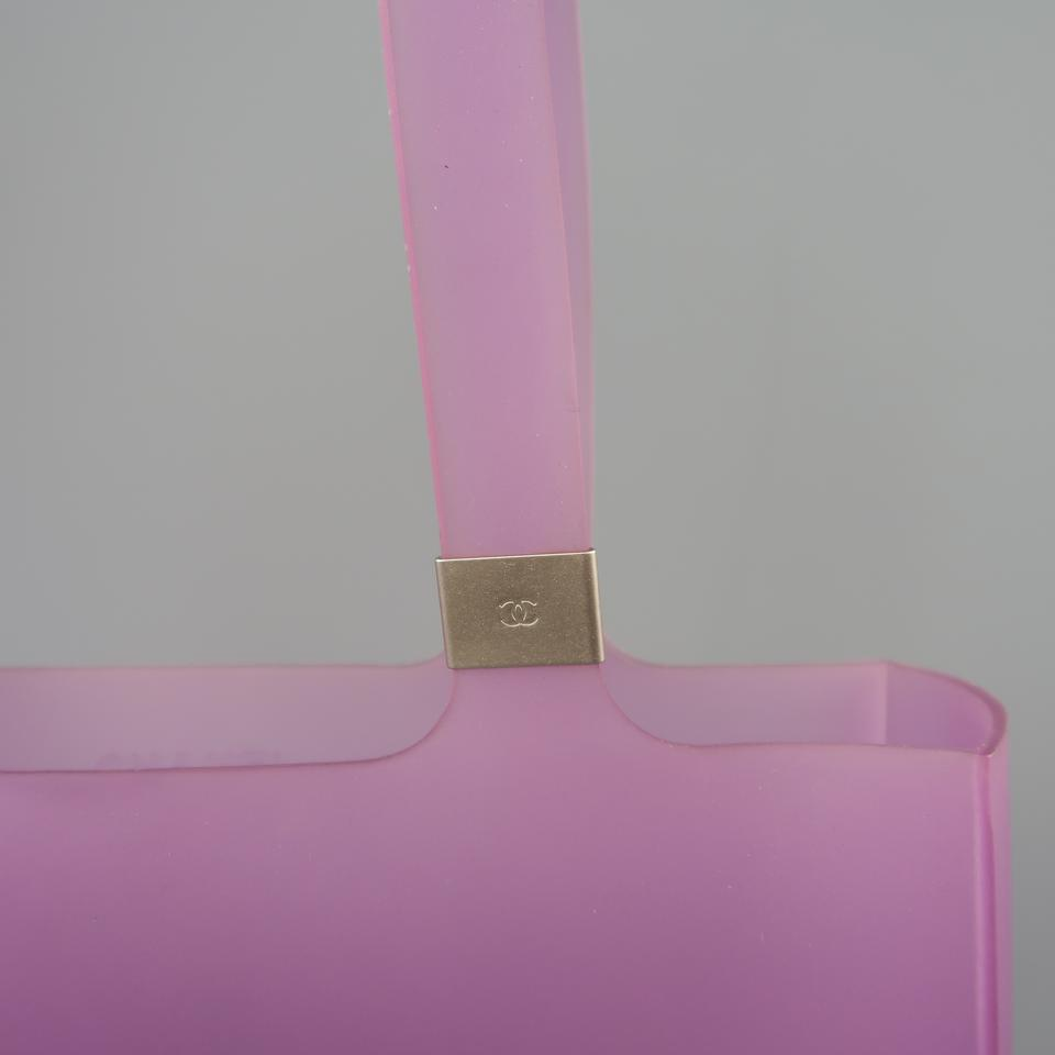 bf9717c62d4824 Chanel Rubber Jelly Logo Vintage Beach Tote in Purple Image 11.  123456789101112