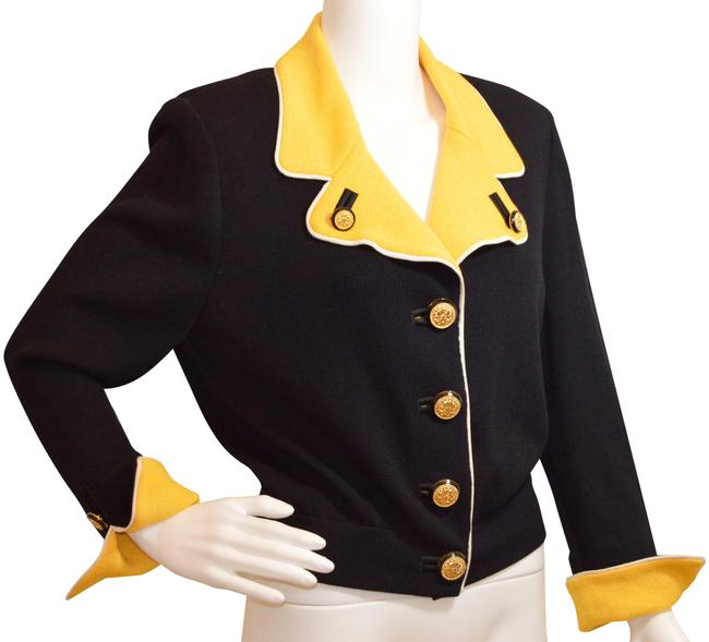 Item - Black/Yellow Collection By Marie Gray Blazer Size 8 (M)