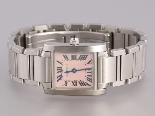 Cartier Stainless Steel Tank Francaise Ladies Watch Image 1